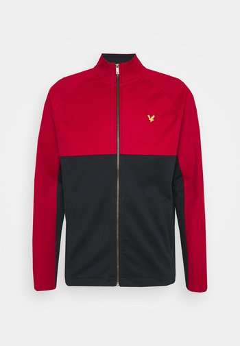 ARCHIVE TRICOT ZIP THROUGH RELAXED FIT - Huvtröja med dragkedja - chilli pepper red/ dark navy