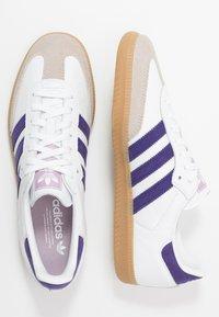 adidas Originals - SAMBA FOOTBALL - Sneaker low - footwear white/collegiate purple/soft vision - 1