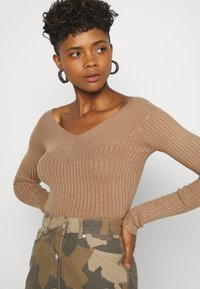 Even&Odd - BARDOT NECKLINE - Pullover - camel - 3