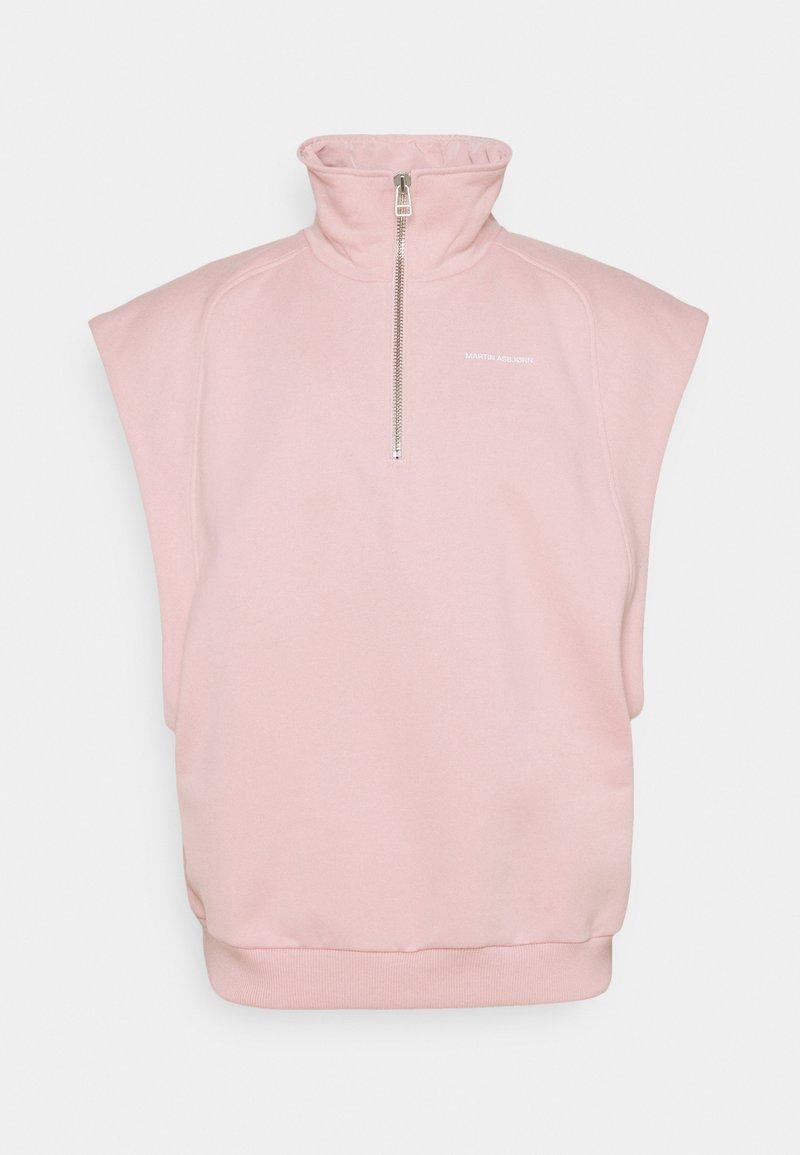 Martin Asbjørn - CAMERON TURTLENECK - Print T-shirt - silver pink