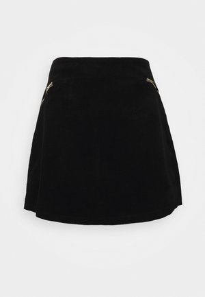 ZIP SKIRT - A-line skirt - black