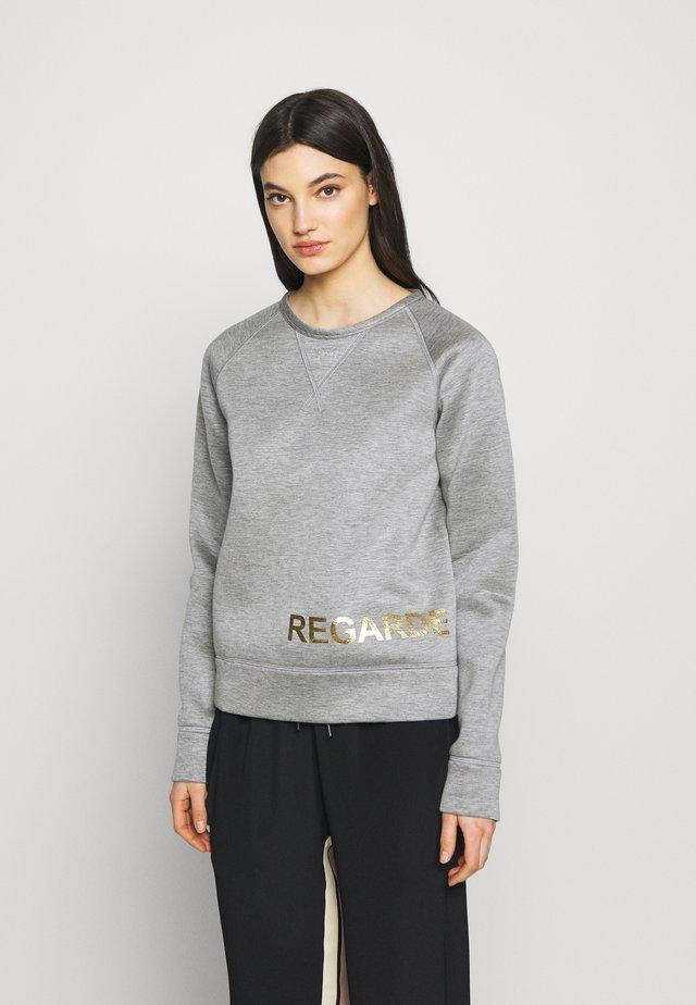 Collegepaita - melange grey