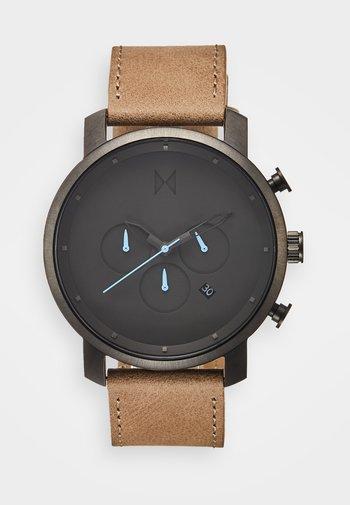 CHRONO 45 - Chronograph watch - gunmetal/sandstone
