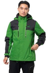Jack Wolfskin - JASPER FLEX  - Hardshell jacket - basil green - 0