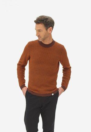 TWO TONED  - Jumper - orange/brown
