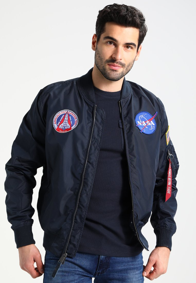 Alpha Industries - NASA REVERSIBLE II - Bomber Jacket - blue