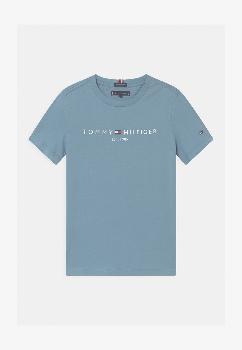 Tommy Hilfiger - ESSENTIAL LOGO UNISEX - Print T-shirt - blue