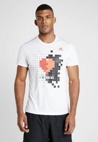 adidas Performance - OWN THE RUN TEE - Print T-shirt - white - 0