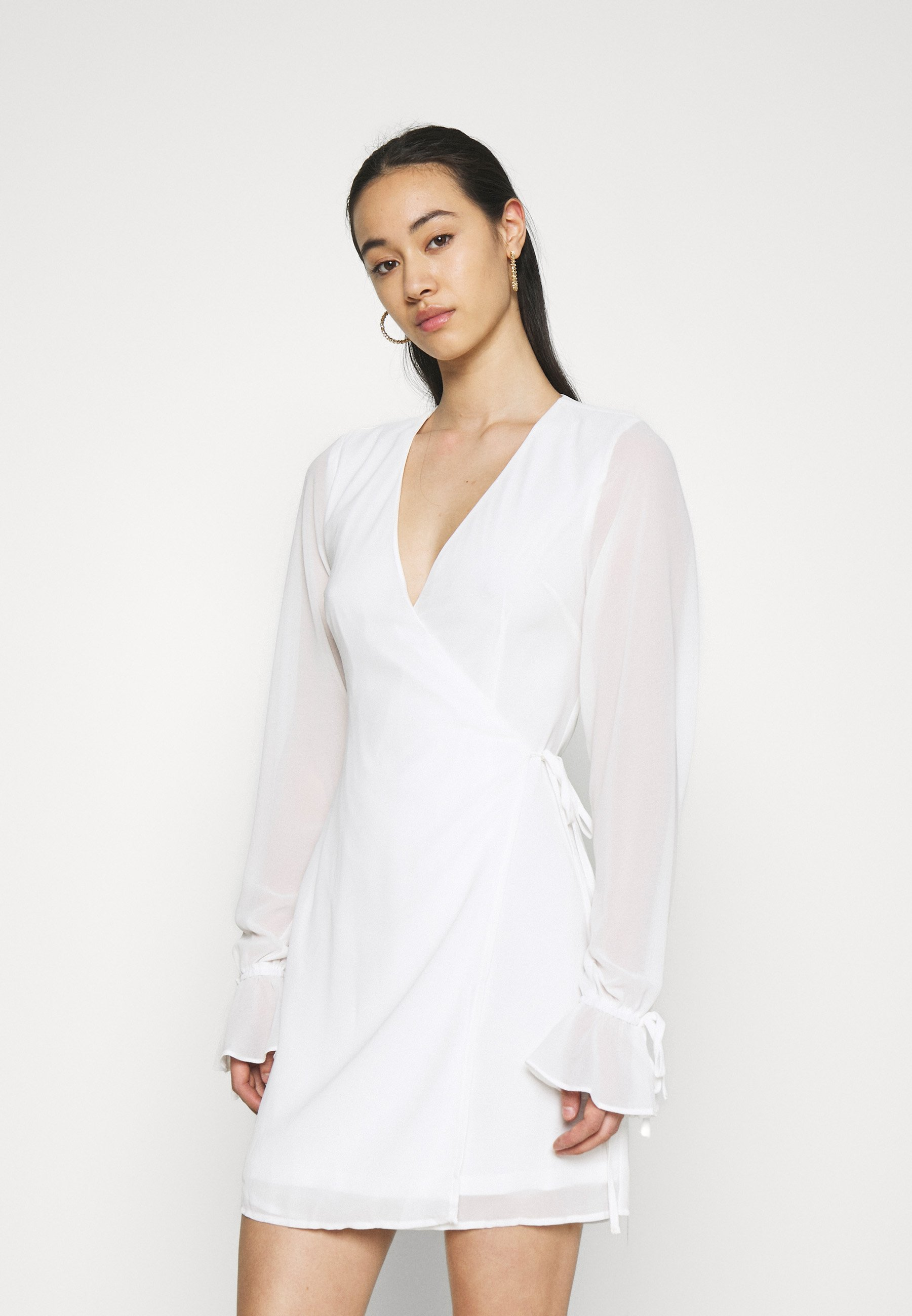 Women TIE STRAP OVERLAP MINI DRESS - Day dress