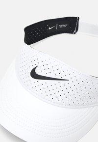 Nike Performance - AERO VISOR - Cap - white/black - 3