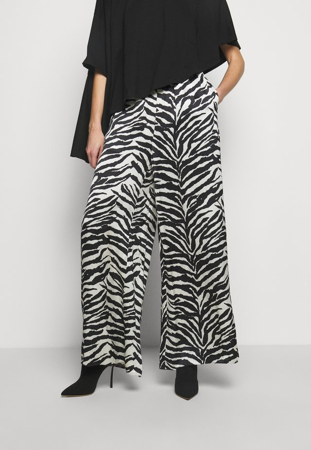 Trousers - white/black