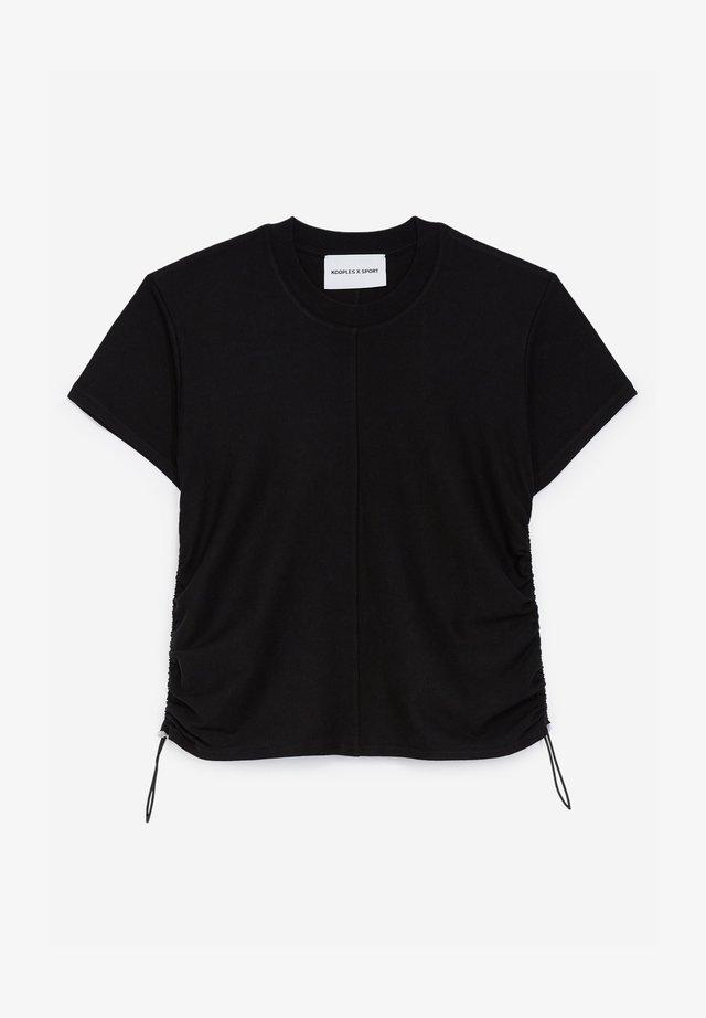 À DÉTAIL FRONCÉ - Print T-shirt - black