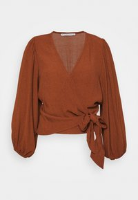 Abercrombie & Fitch - CHASE BLOUSE - Blůza - dark brown - 0