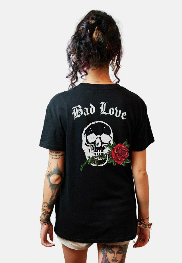 BADLOVEBACK - T-shirts print - black
