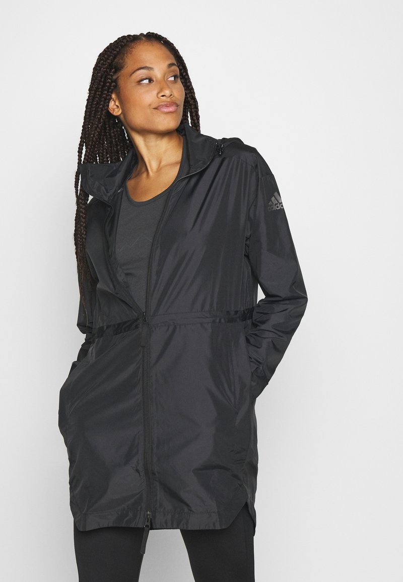 adidas Performance - OUTERIOR WIND.RDY PARKA - Short coat - black