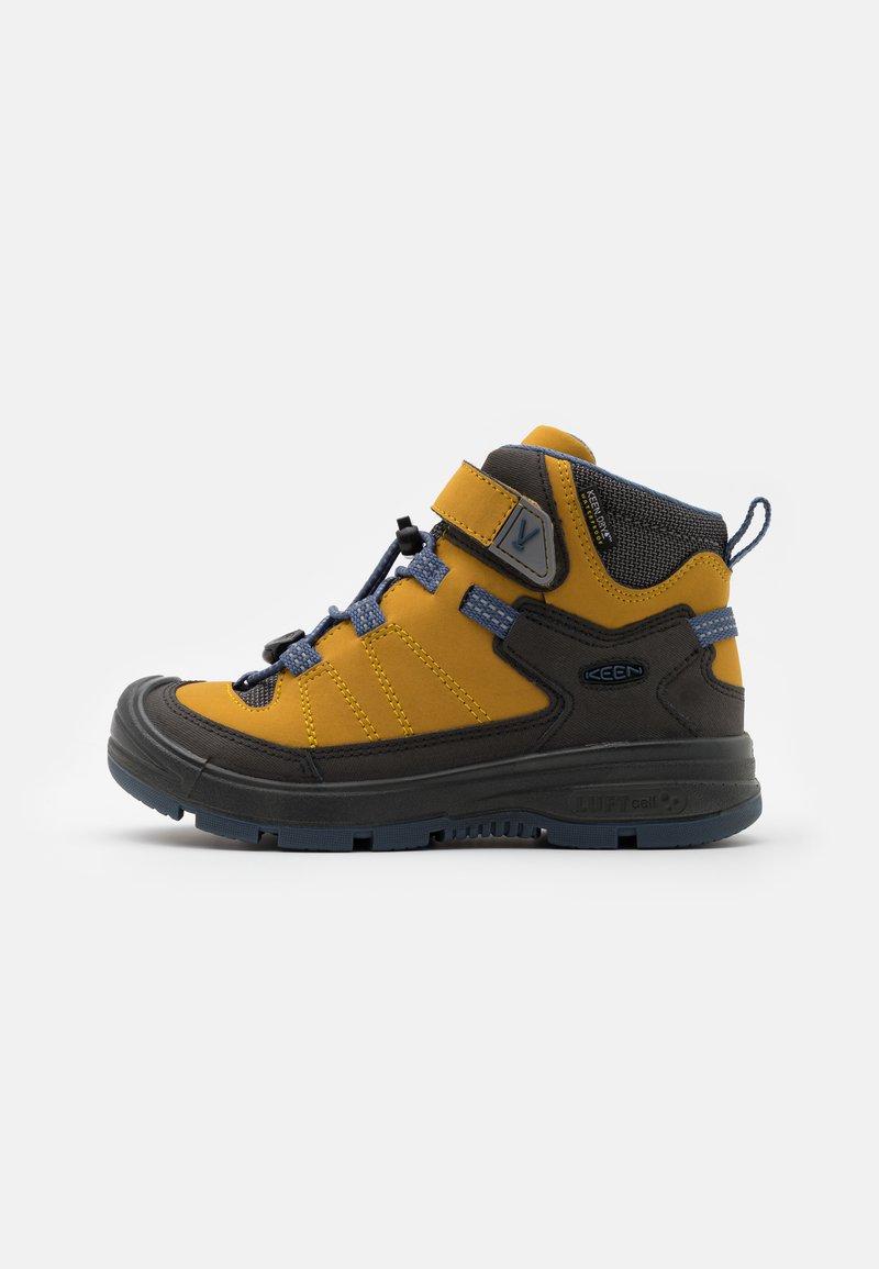 Keen - MID WP UNISEX - Hiking shoes - harvest gold/vintage indigo
