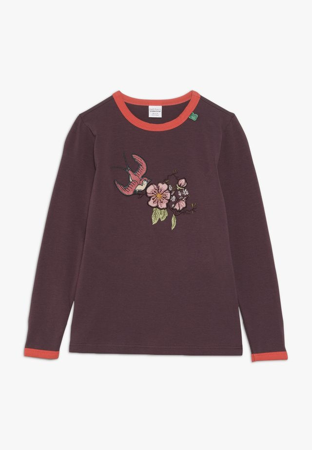 BIRD FRONT - Long sleeved top - plum purple