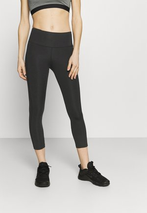 EPIC FAST CROP - Leggings - black/silver