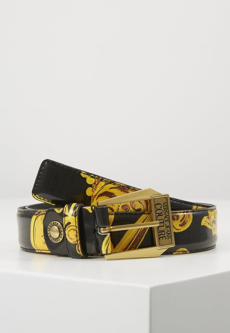 Versace Jeans Couture - BAROQUE PRINT PATENT BELT - Cintura - nero/oro