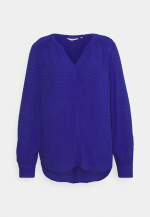 BLOUSE STRUCTURED DOBBY - Blouse - crest blue