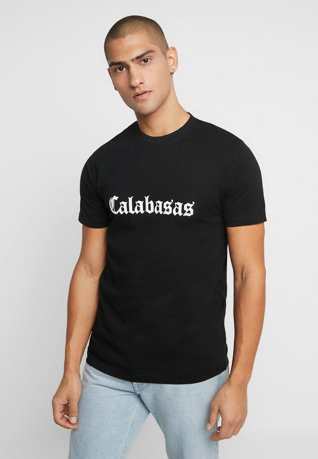 CALABASAS TEE - T-shirt imprimé - black