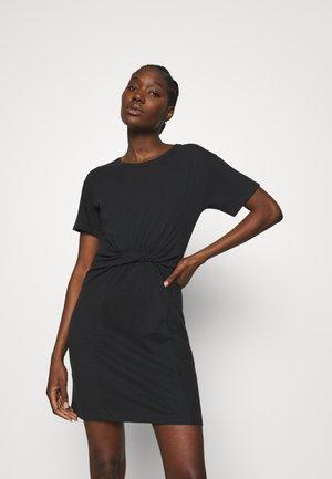 KNOT FRONT DRESS - Vestito di maglina - true black