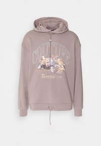 The Couture Club - OVERSIZED FIT HOOD WITH FLAMING CAR GRAPHIC - Sweatshirt - washed taupe - 0