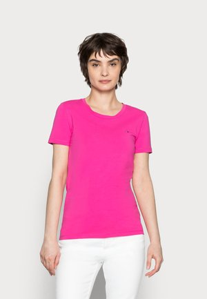 COOL SOLID ROUND - Basic T-shirt - hot magenta