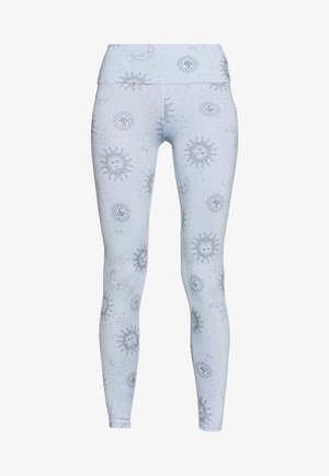 LEGGINGS SUN MOON - Leggings - light blue