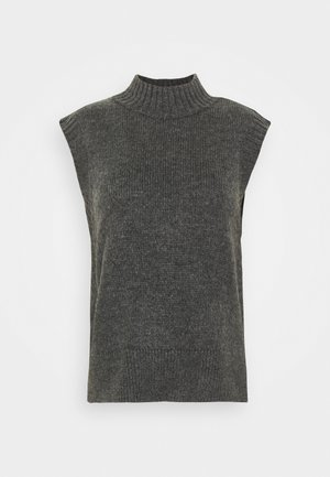 ONLELIEEN HIGHNECK VEST - Jumper - dark grey melange