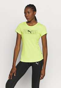 Puma - REBEL GRAPHIC TEE - T-shirt con stampa - sharp green/black - 0