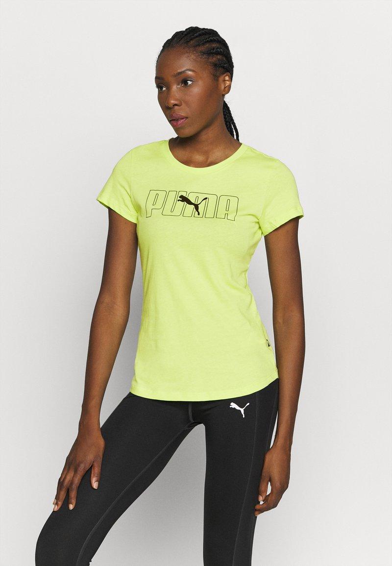 Puma - REBEL GRAPHIC TEE - T-shirt con stampa - sharp green/black