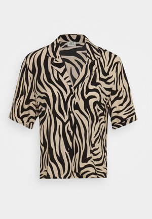 JDYTARA  - Button-down blouse - tapioca/black zebra
