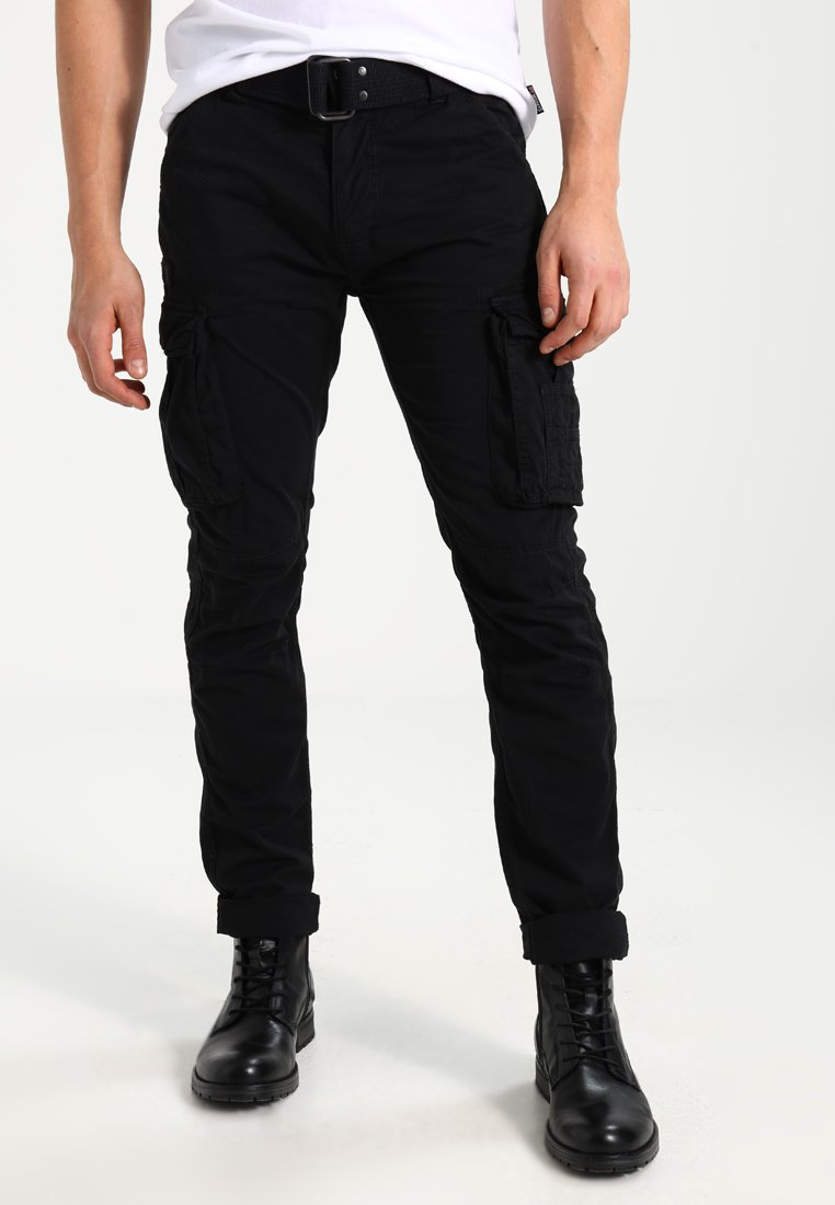 Schott - TRRANGER - Cargo trousers - black