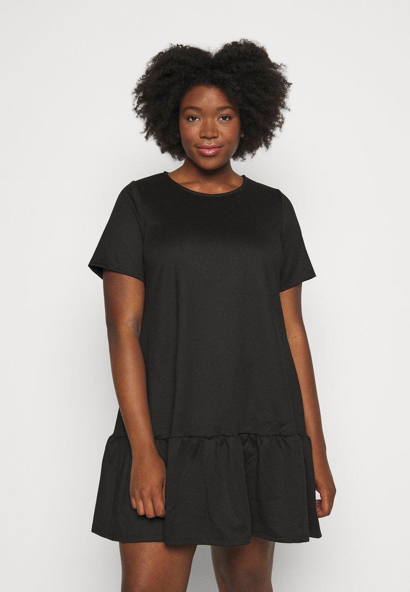 Simply Be - PONTE TSHIRT DRESS - Day dress - black