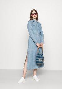 Polo Ralph Lauren - LONG SLEEVE DAY DRESS - Denim dress - leaton wash - 1