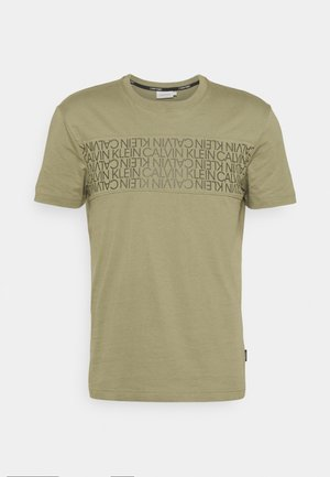 LOGO LINES - T-shirt con stampa - green