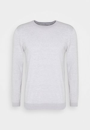FORREST O-NECK STRIPED  - Jumper - grey melange