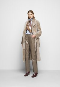 Bally - LEATHER TROUERS - Leather trousers - dove - 1