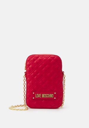 QUILTED PHONE XBODY - Across body bag - rosso