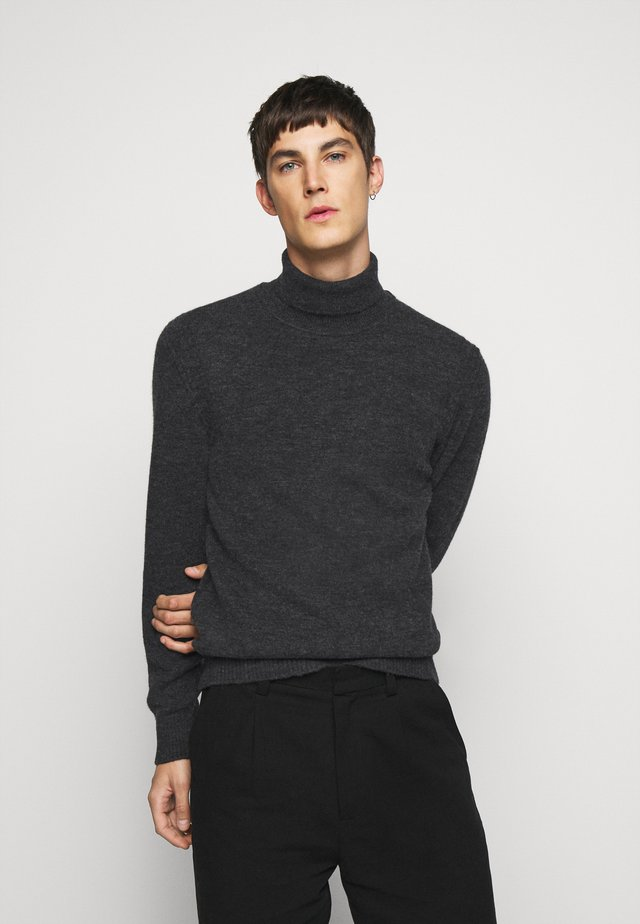 IVO TURTLE NECK SWEATER - Pullover - dark grey melange