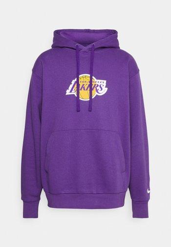 NBA LOS ANGELES LAKERS ESSENTIAL LOGO HOODIE - Felpa con cappuccio - field purple