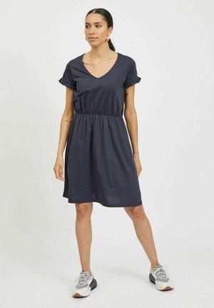 VIDREAMERS V-NECK DRESS - Day dress - total eclipse