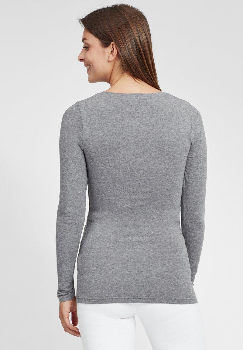 Oxmo MARIE - Langarmshirt - medium grey melange/grau TZJzIj