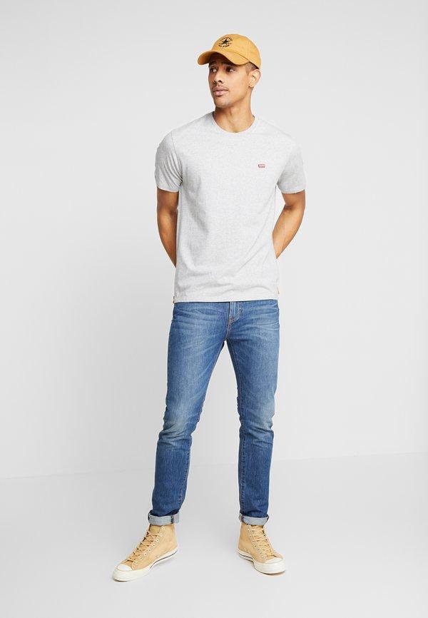 Levi's® THE ORIGINAL TEE - T-shirt z nadrukiem - patch medium grey heather embroidery/szary melanż Odzież Męska QGHE