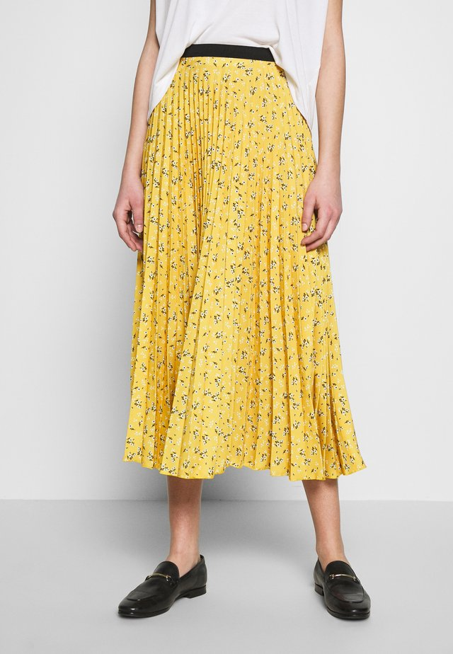 PLEATED SKIRT - A-line skirt - mustard