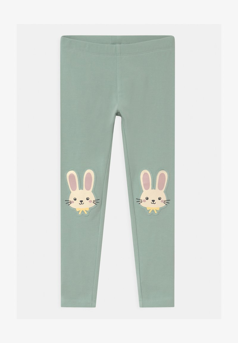 Lindex - RABBIT - Leggings - Trousers - light dusty turquoise