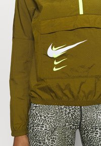 Nike Performance - RUN - Sports jacket - olive flak/volt/white - 5