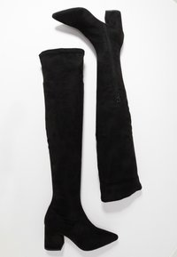 Missguided - MID HEEL BOOT - Over-the-knee boots - black - 3