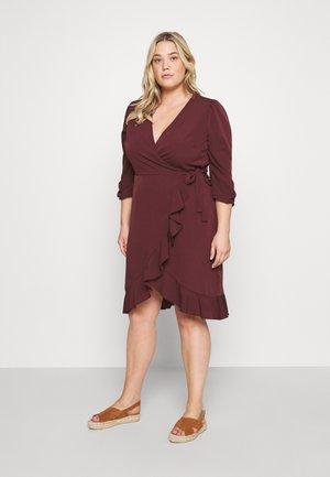 VMRILLO 3/4 KNEE WRAP DRESS - Day dress - port royale
